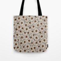 daisies Tote Bags featuring Daisies by Marta Li
