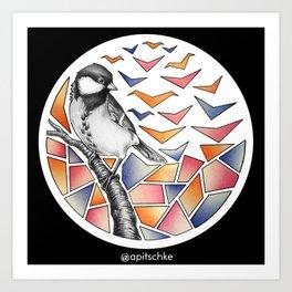 Geobirds Art Print