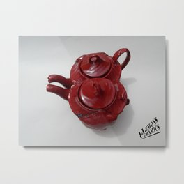 prints 'unconventional tea' collection, By LLemons ceramics. Heart Edition. Metal Print