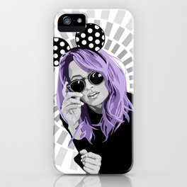 nicole richie purple hair iPhone Case