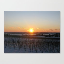 Stoney Lonesome Sunset Canvas Print