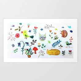 Party in the Garden Art Print