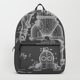 Submarine Armor Patent Black And White Diagram Backpack