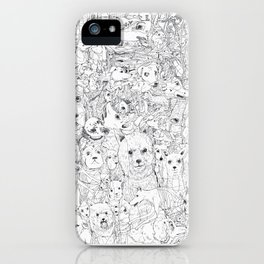 Les Chiens iPhone Case