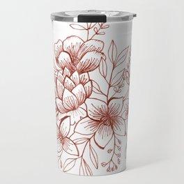 Line Flower Bouquet Travel Mug