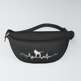 Bass Guitar Heartbeat  Cool Gift for Guitarists Fanny Pack