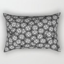 Poker chips B&W / 3D render of thousands of poker chips Rectangular Pillow