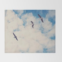 Flying Over Seas Throw Blanket