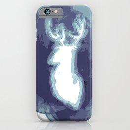 Magic cute Minimal stag illustration iPhone Case