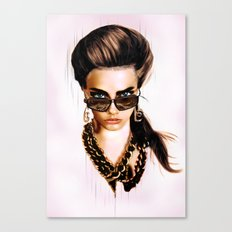 Fashion Illustration - Glasses Canvas Print