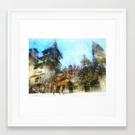 Lights of Santiago, 2013 Framed Art Print