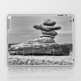 The Cairn in Black and White Laptop & iPad Skin