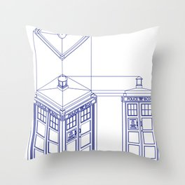 Tardis - Light Throw Pillow
