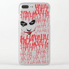 haHAha Clear iPhone Case