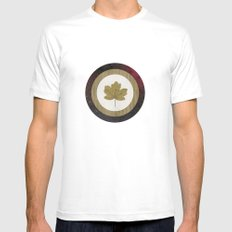 Leaf Space White MEDIUM Mens Fitted Tee