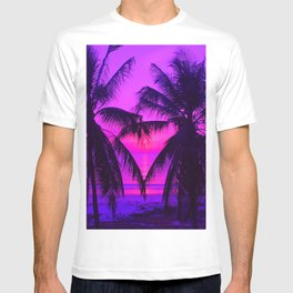 Pink Palm Trees by the Indian Ocean T-shirt