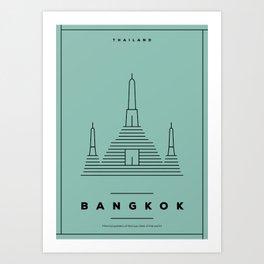 Minimal Bangkok City Poster Art Print