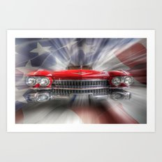 Red White and Blue Caddy Art Print
