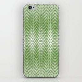 Cool Lime Green Frosted Geometric Design iPhone Skin