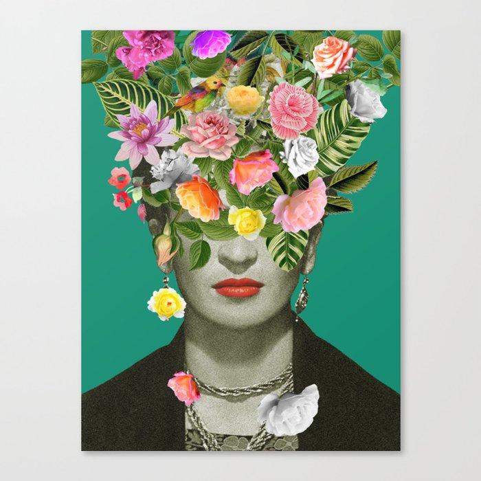 Frida Floral Leinwanddruck