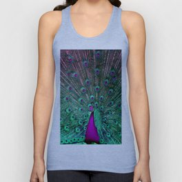 BLOOMING PEACOCK Unisex Tank Top