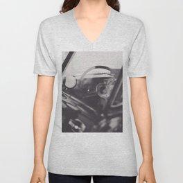 Super car details, british triumph spitfire, black & white, high quality fine art print, classic car Unisex V-Neck