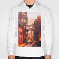 new york city Hoodies featuring New York City Alley by Vivienne Gucwa