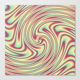 Cherry Lemon Lime Ribbon Candy Fractal Canvas Print