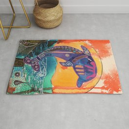 Fantastic animal - Little dolphin - by LiliFlore Rug