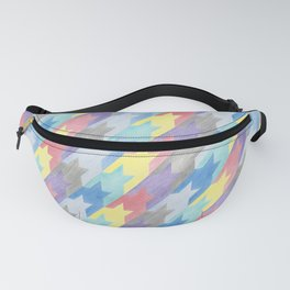 Multicoloured Houndstooth Fanny Pack