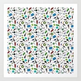Circuit Components - Color Art Print