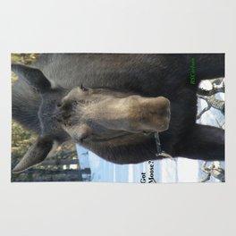 Moose Munching Poplar Lunch Rug