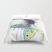 mermaid Duvet Covers featuring Mermaid by Sam Nagel
