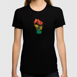 Ghana Flag on a Raised Clenched Fist T-shirt