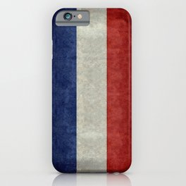 French Flag with vintage textures iPhone Case