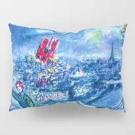 View of Paris by Marc Chagall Pillow Sham