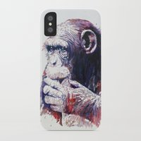 monkey island iPhone & iPod Cases featuring Monkey by Cristian Blanxer