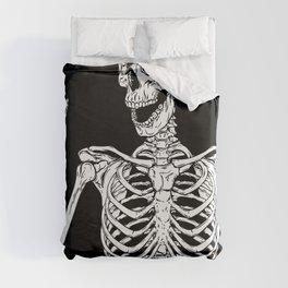 Rock and Roll Skeleton Duvet Cover