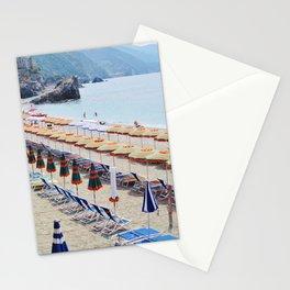 Cinque Terre beach parasols Stationery Cards