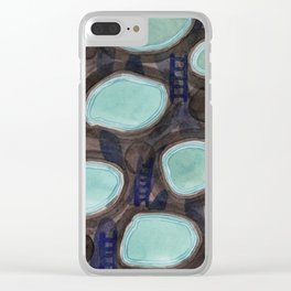 Pools and Ladders Clear iPhone Case
