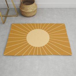 Minimal Sunrays - Golden Rug