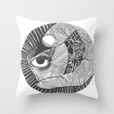 un œil andalou Throw Pillow