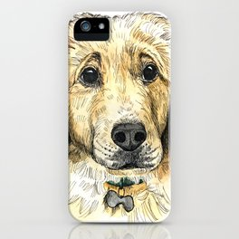 Yellow Lab Puppy Drawing iPhone Case