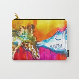 Giraffe Kiss Carry-All Pouch
