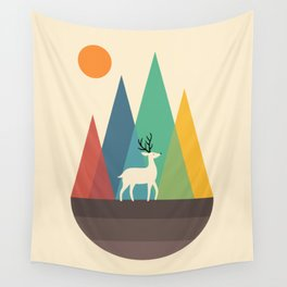 Step Of Autumn Wall Tapestry