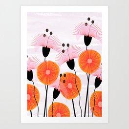 Weird Flowers Art Print