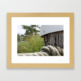 Knotted Rope Framed Art Print