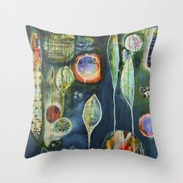 Ephemeral flutter Throw Pillow