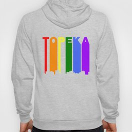 Topeka Kansas Gay Pride Rainbow Skyline Hoody