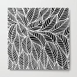Leaves inverse Metal Print